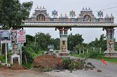 stock photo of haldi  - Chilkur Balaji Temple in Hyderabad, India. It is one of the oldest temples in Hyderabad, located on the banks of Osman Sagar Lake. ** Note: Soft Focus at 100%, best at smaller sizes - JPG