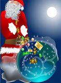 foto of horn plenty  - Christmas horn of Plenty with Santa Claus - JPG