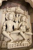 stock photo of jain  - The Jain temples of Khajuraho carvings - JPG
