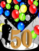 50 Years Old  Birthday Party Balloons