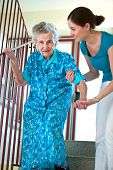 Climbing Stairs With Caregiver