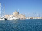 Agios Nikolaos Fortress, Mandraki Harbour, Rhodes, Greece