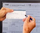 Usa Tax Form 1040 For Year 2012 And Check