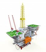 Perfuração de petróleo Offshore plataforma
