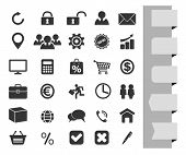 business black icons set