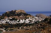 image of akropolis  - castle  on the hill in Greece, Rhodes, Lindos