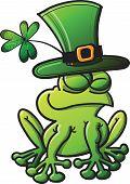 St Patrick's Day Frog