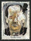 UK - CIRCA 1997: Um selo imprimido em UK mostra imagem do Frankenstein. Contos e lendas. Horror St