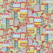 Town Concept Background Pattern Seamless
