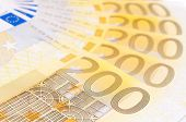 Fan of two hundred euro banknotes