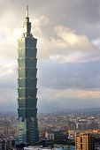TAIPEI, TAIWAN - JANUARY 16: Taipei 101 skyscraper January 16, 2013 in Taipei, TW. The building ranked worlds tallest from 2004 until 2010.