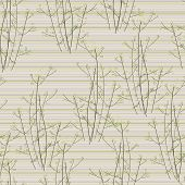 Seamless Trees On Striped Background