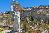 picture of isis  - Ancient temple of Isis at Delos island in Greece - JPG