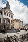 Ljubljana, Slovenia - May 18: Bicycles Parked In Front Of Ljublj