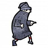cartoon sneaking thief