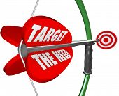A bow and arrow with words Target the Need to illustrate serving what a customer truly wants and des