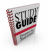 A study guide book cover for preparing for success on an exam for a class