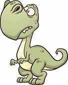 Cartoon T-rex. Vector clip art illustration with simple gradients. All in a single layer.