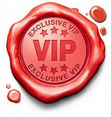VIP very important person estrella exclusiva y personalidad famosa rojo firman boleto de icono de sello