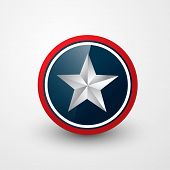 american star shield vector design