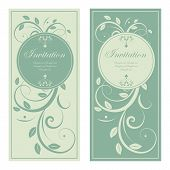 vector design of wedding invitation