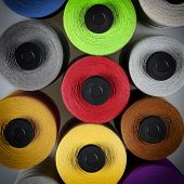 Cotton Bobbin Pattern Background