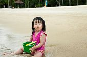 Toddler At The Beach