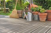Various Accossories On Wooden Deck