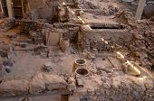 Akrotiri, Greece Excavation Site Of Akrotiri