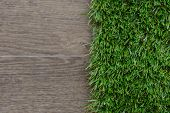 Artificial Grass And .tile Background