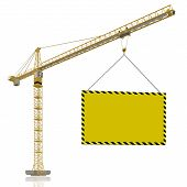 picture of construction crane  - under construction  - JPG
