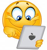 Emoticon usando um tablet pc