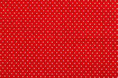 Red Polka Dot Fabric Pattern