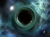An image of a nice space singularity black hole