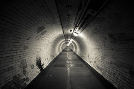 image of underworld  - Empty tunnel at night  - JPG