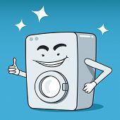 Washing machine illustrated character