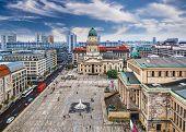 Berlin, Germany skyline over Gendarmenmarkt.