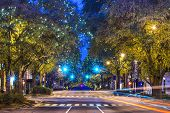 stock photo of intersection  - Downtown Athens - JPG