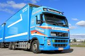 Blue Volvo Fh12 500 Long Haulage Truck