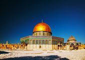 picture of aqsa  - Dome of the Rock mosque in Jerusalem Israel - JPG