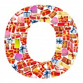 O Letter - Alphabet made of giftboxes