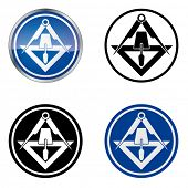 Plasterer - Traditional Craftsmen's Guild Vector Symbol, four variations