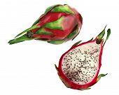 Pitaya Dragon fruit isolated