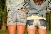 Two Females In Jeanswear