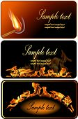 Set of Fire Flame Banner.