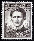 Postage Stamp Czechoslovakia 1954 Jiri Wolker, Poet