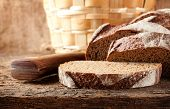 Sliced Brown Bread With Knife