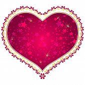 Red And Gold Vintage Valentine Frame