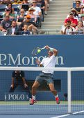 Twelve times Grand Slam champion Rafael Nadal during his first round match at US Open 2013