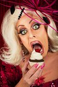 Actress Eating Cupcake
